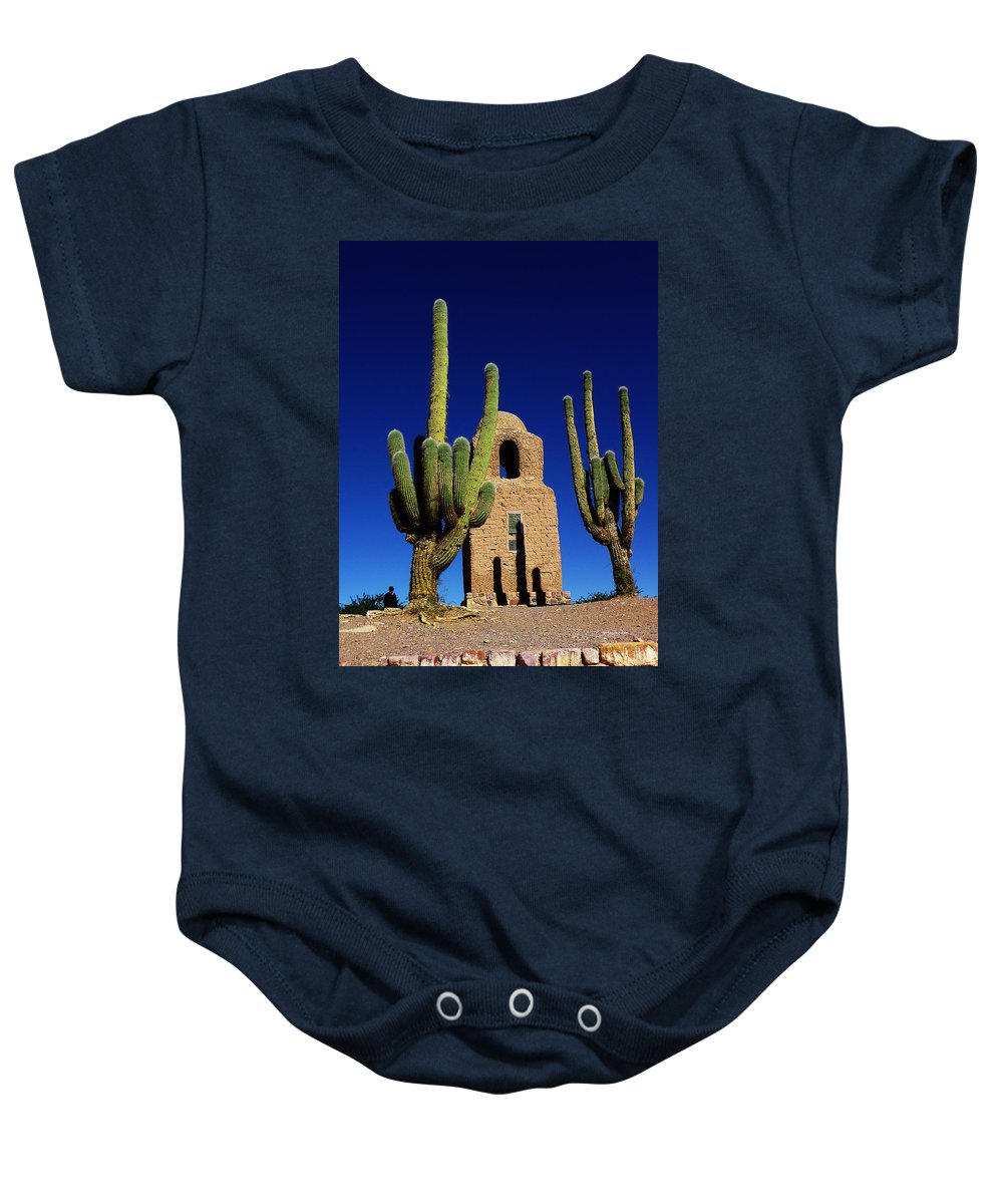 Saguaro Baby Onesie featuring the photograph Humahuaca Argentina by Xueling Zou