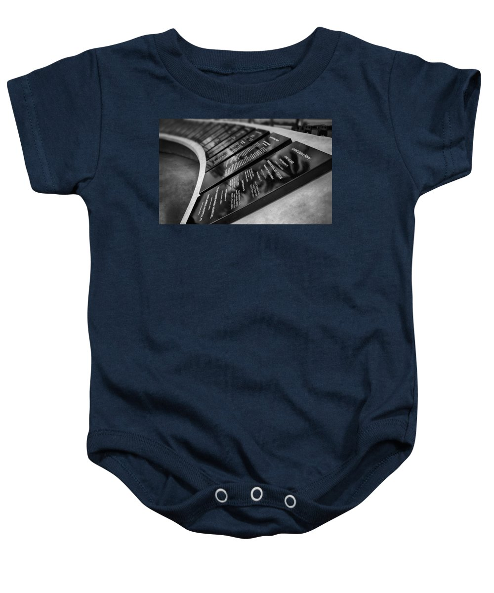 Uss Arizona Memorial Baby Onesie featuring the photograph In Remembrance V6 by Douglas Barnard