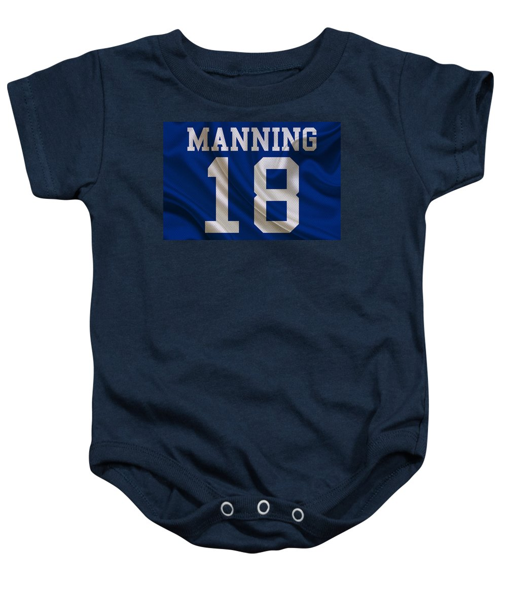 Colts Baby Onesie featuring the photograph Indianapolis Colts Peyton Manning  by Joe Hamilton 0e53e9865