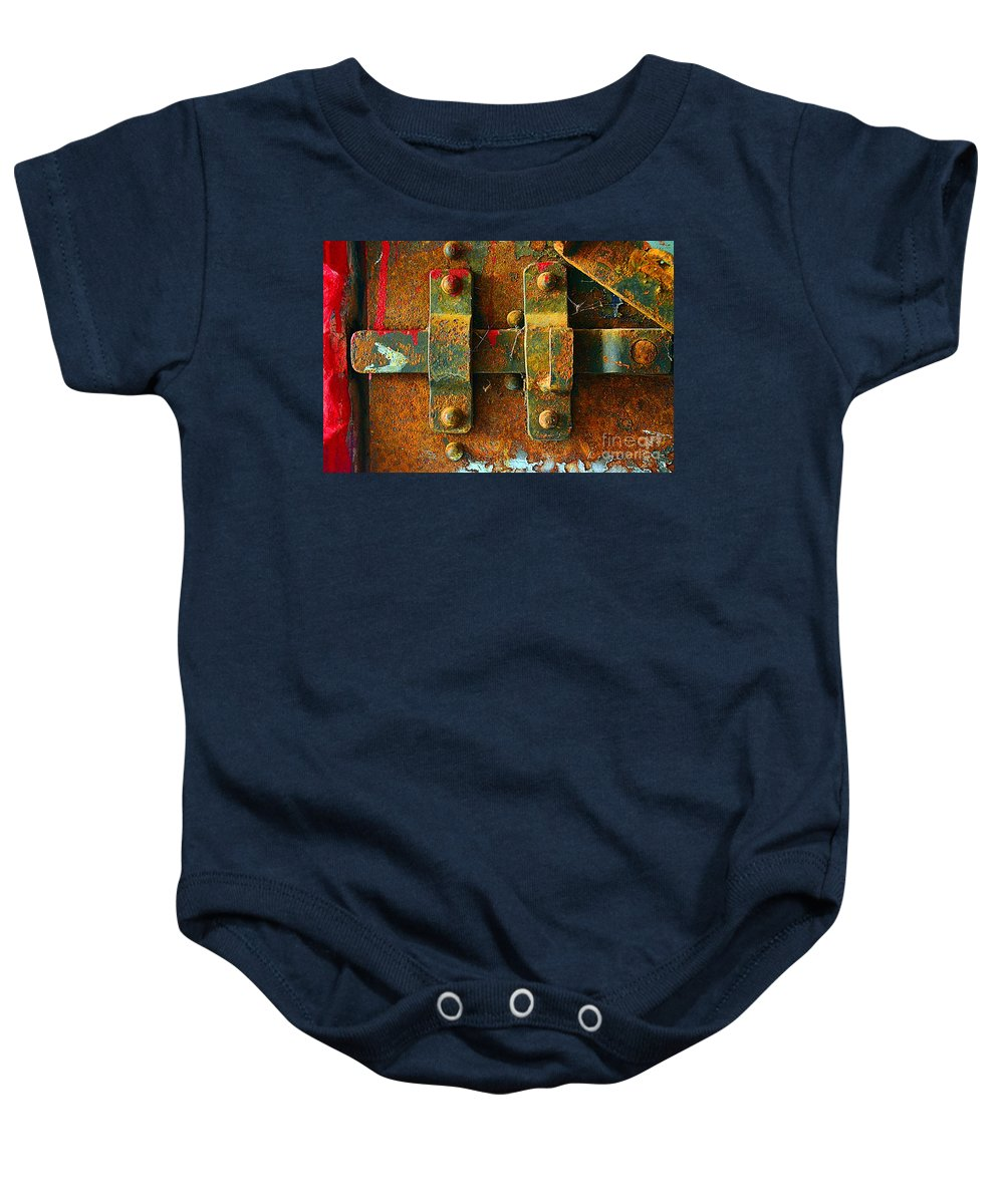 Abstract Baby Onesie featuring the photograph Insecurity by Lauren Leigh Hunter Fine Art Photography