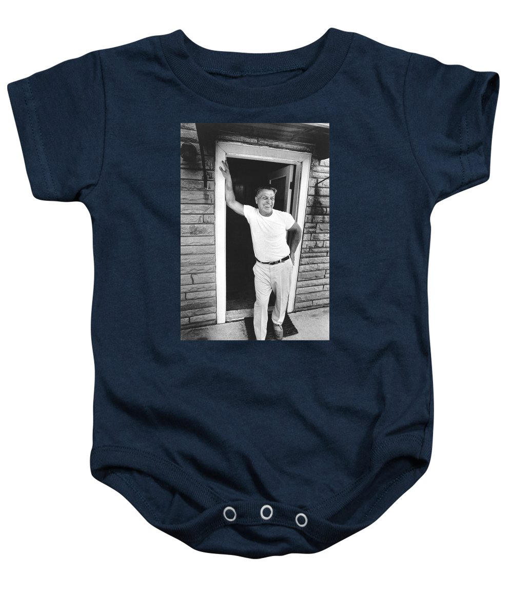1974 Baby Onesie featuring the photograph Jimmy Hoffa Interview by Underwood Archives