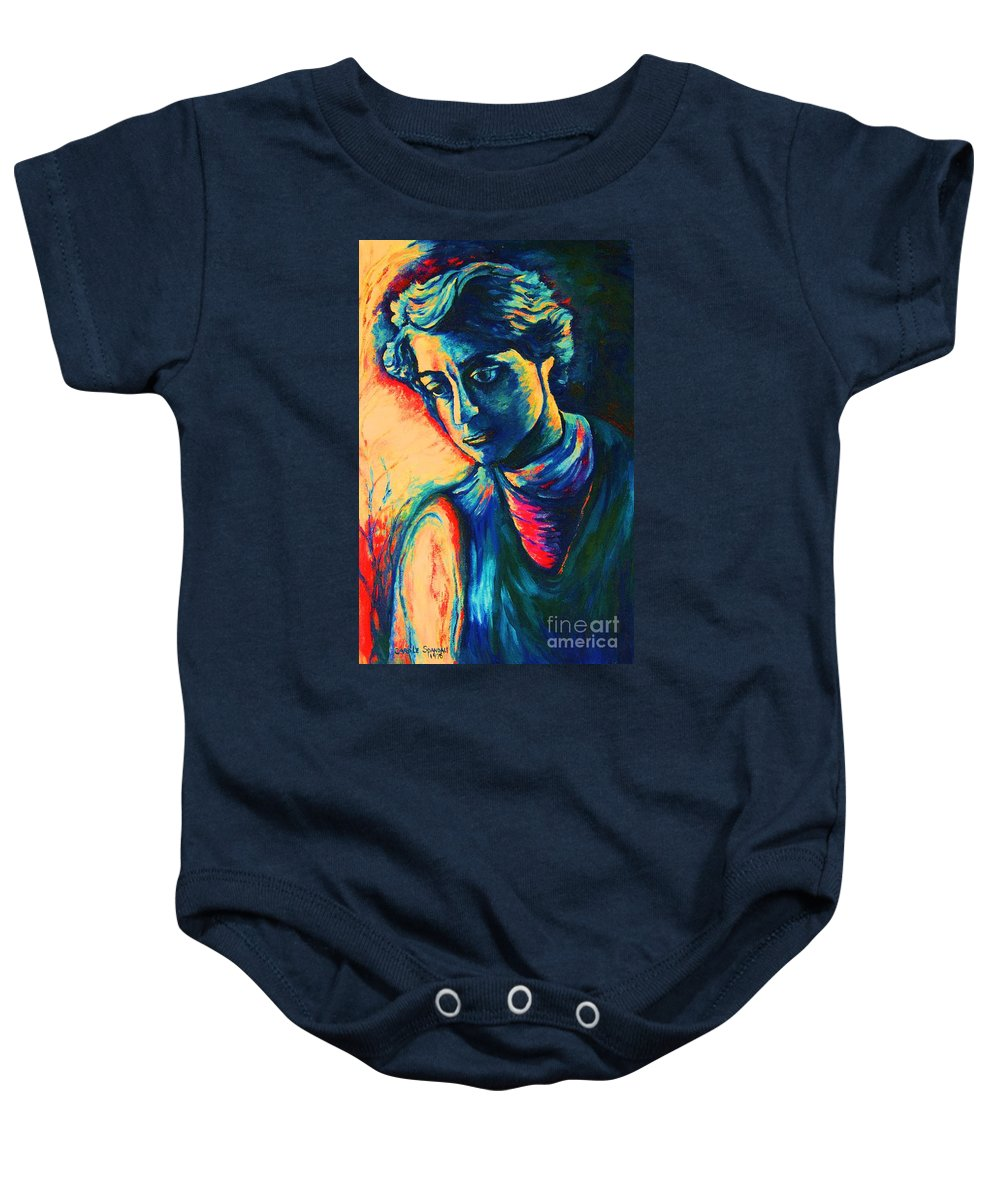 Joseph From The Bible Baby Onesie featuring the painting Joseph The Dreamer by Carole Spandau