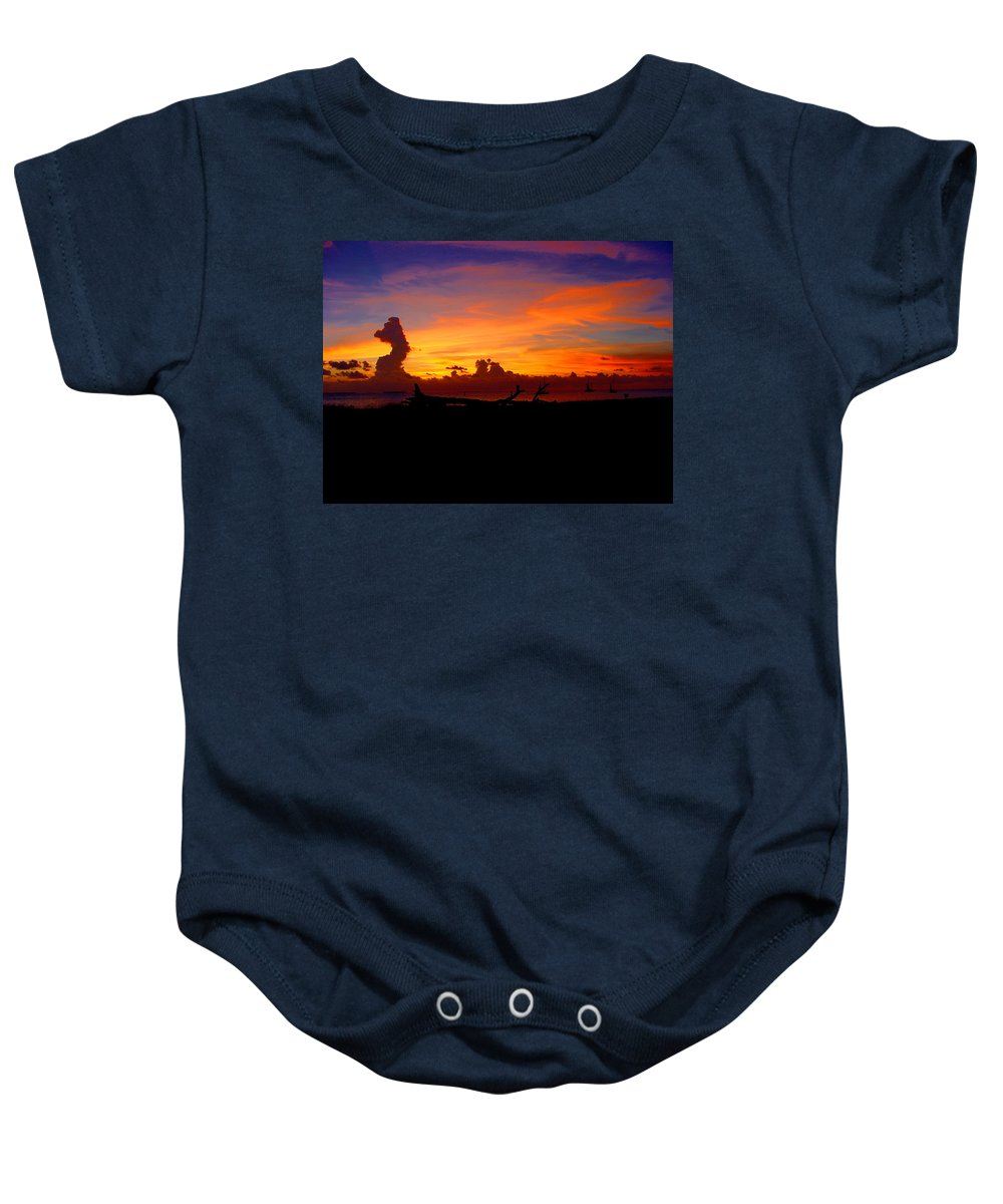 Key West Sun Set Photograph Baby Onesie featuring the photograph Key West Sun Set by Iconic Images Art Gallery David Pucciarelli