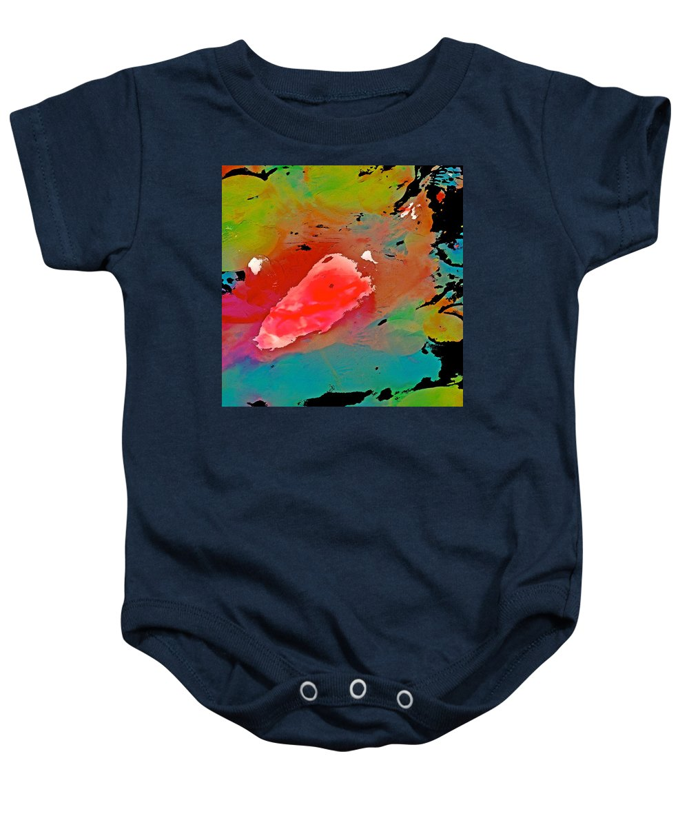 Koi Baby Onesie featuring the photograph Koi 17 by Pamela Cooper