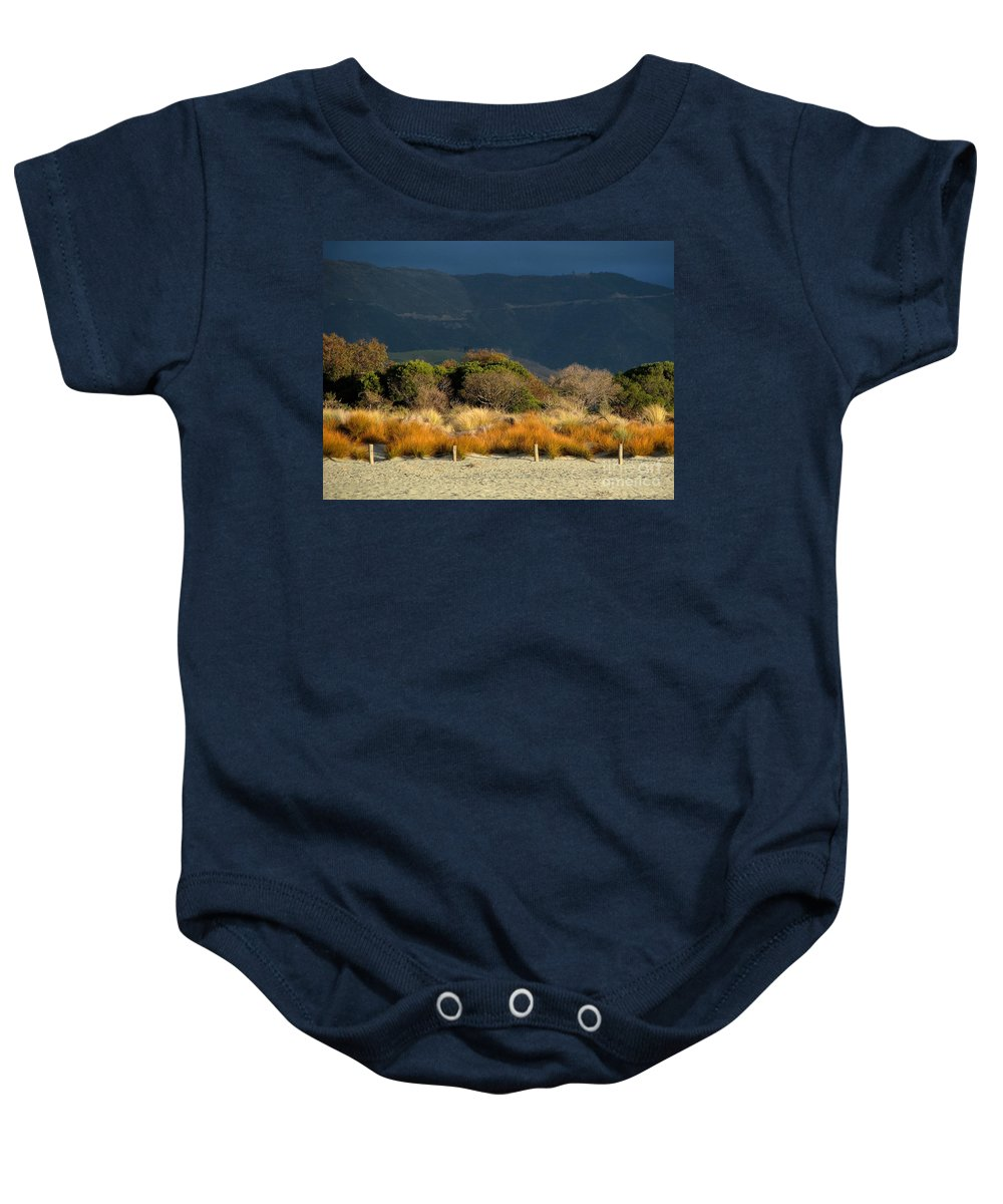 Beach Baby Onesie featuring the photograph Late Afternoon Colours by Jola Martysz