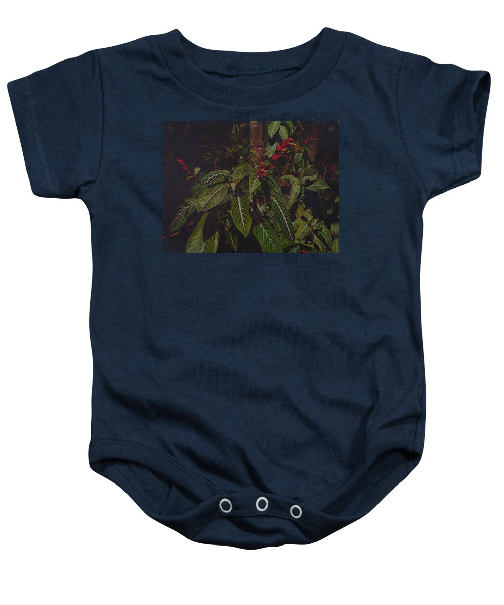 Leaves Baby Onesie featuring the painting Leaving Monroe by Thu Nguyen