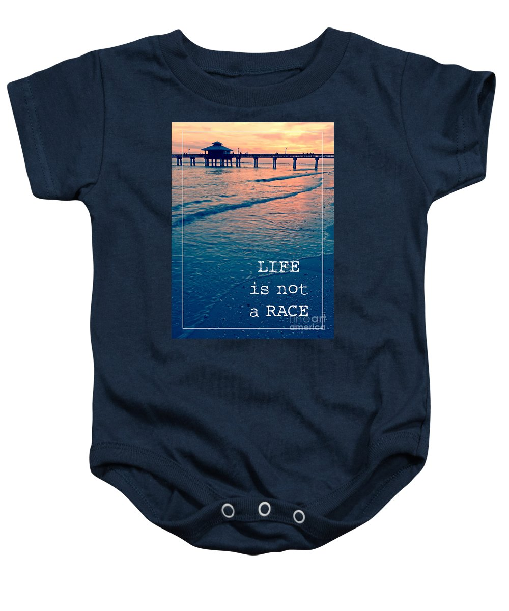 Sunset Baby Onesie featuring the photograph Life Is Not A Race by Edward Fielding
