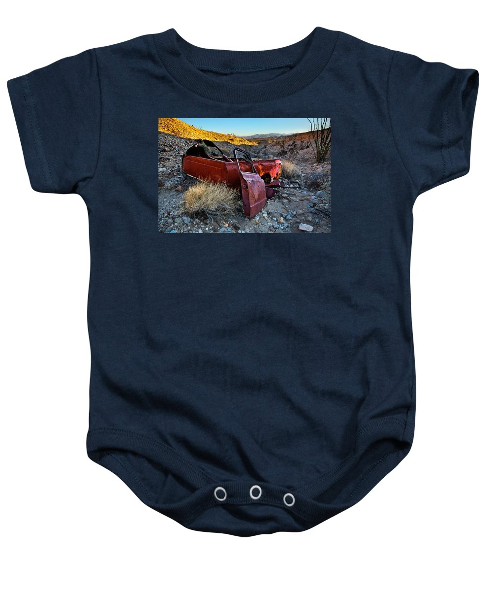 Rusted Truck Baby Onesie featuring the photograph Like A Rock by Peter Tellone