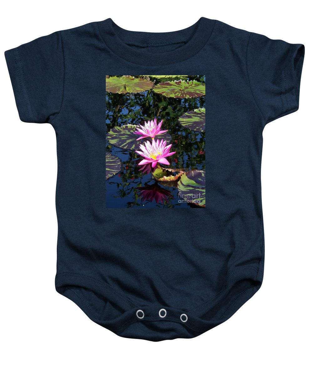 Lily Baby Onesie featuring the painting Lily Monet by Eric Schiabor