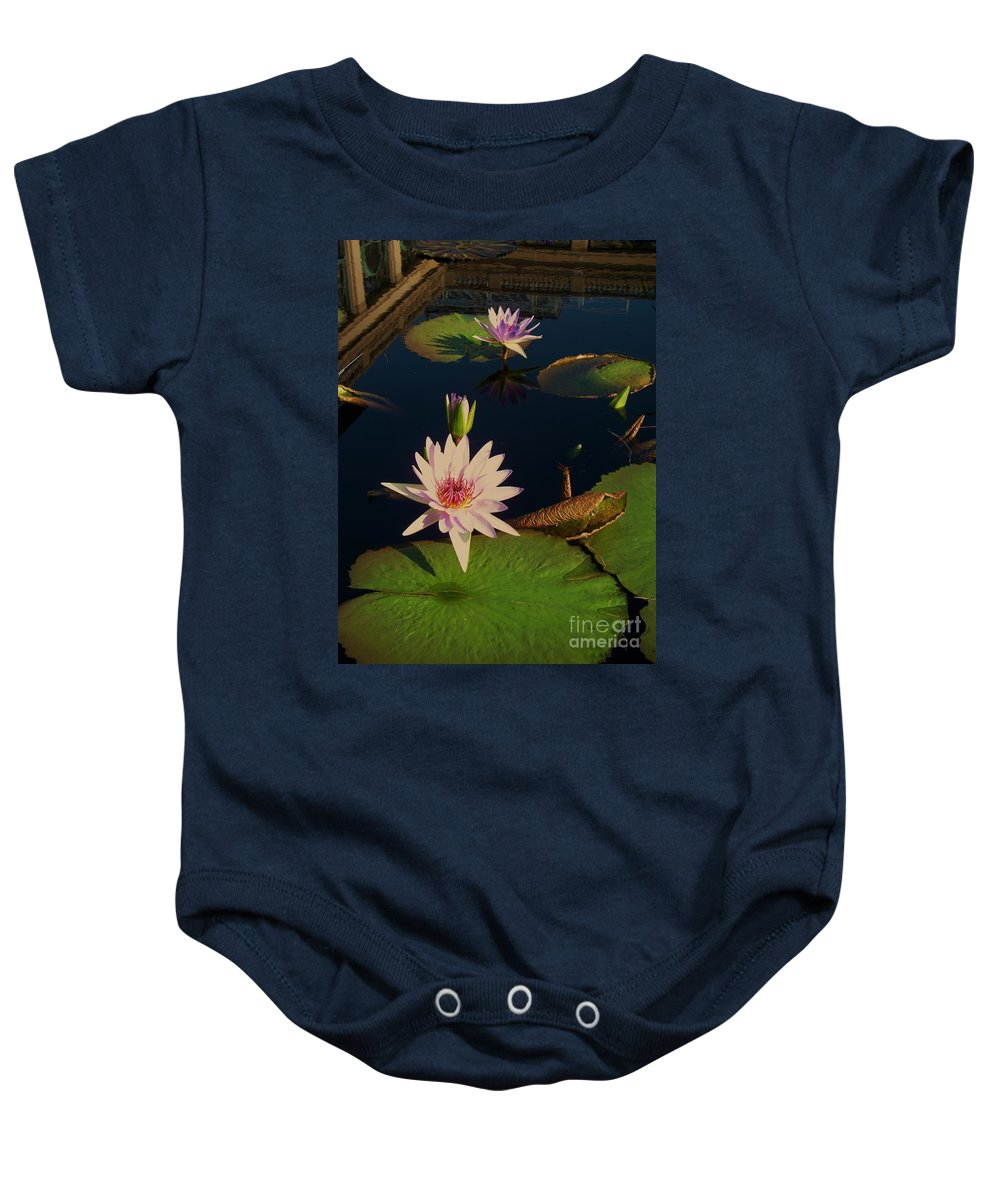 Photograph Baby Onesie featuring the photograph Lily White Monet by Eric Schiabor
