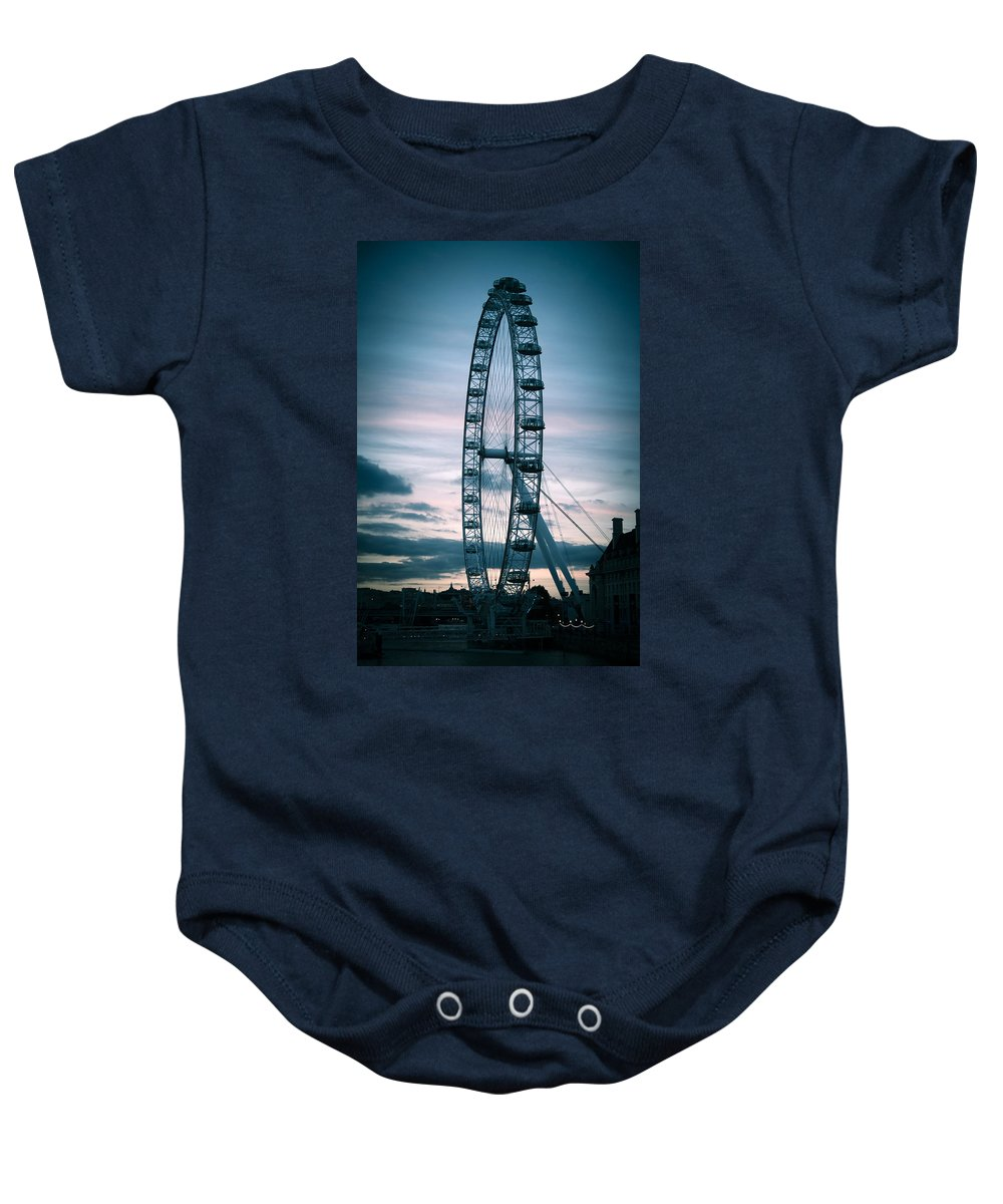 London Baby Onesie featuring the photograph London Eye by Bill Howard