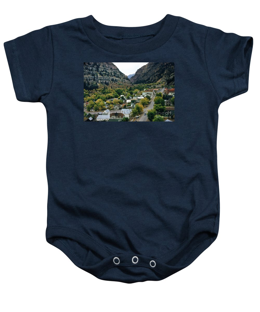 Looking Over Baby Onesie featuring the photograph Looking Over Ouray From The Sutton Mine Trail Circa 1955 by California Views Archives Mr Pat Hathaway Archives