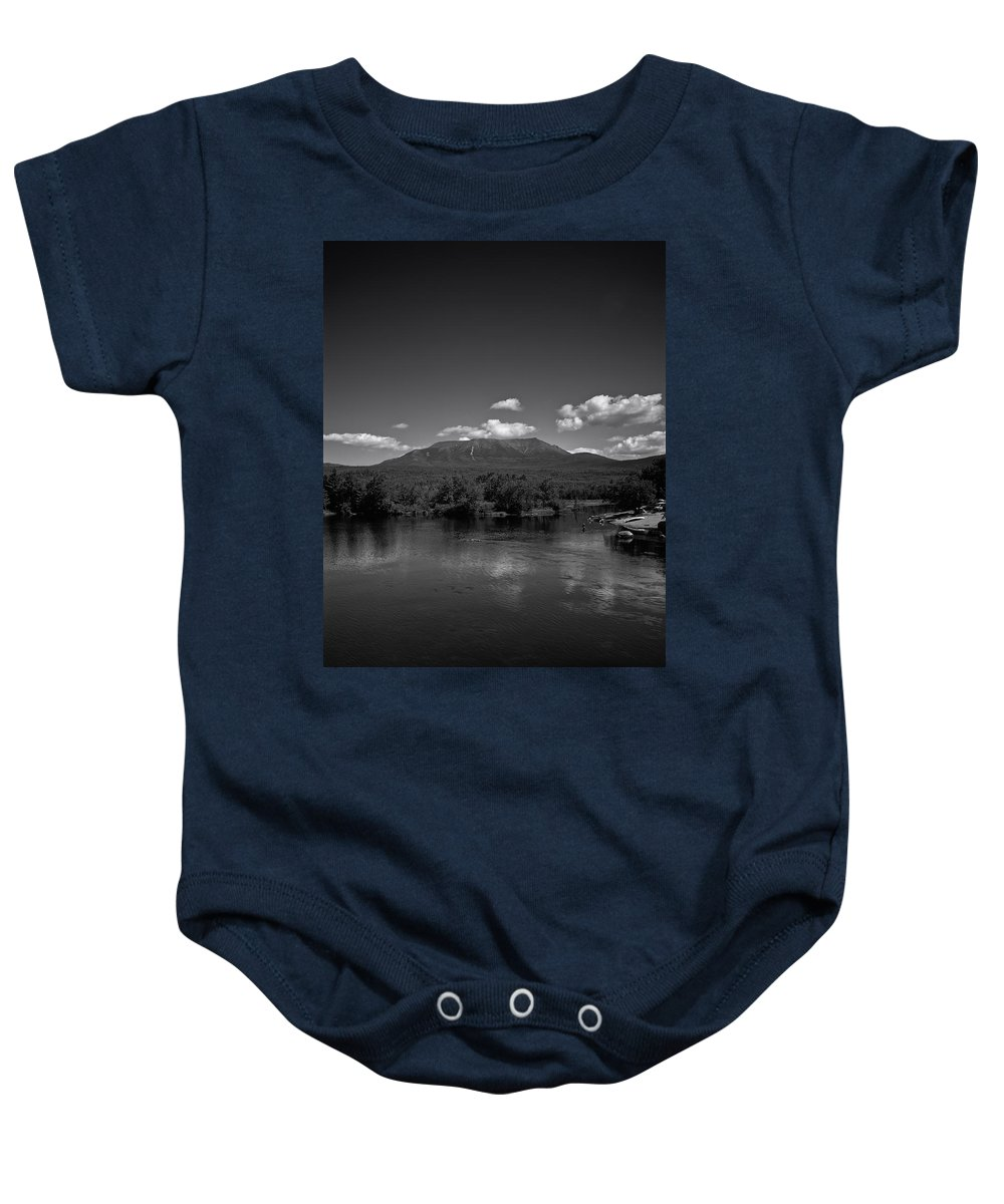 Mount Katahdin Baby Onesie featuring the photograph Maine's Nature Wonderland by Mountain Dreams