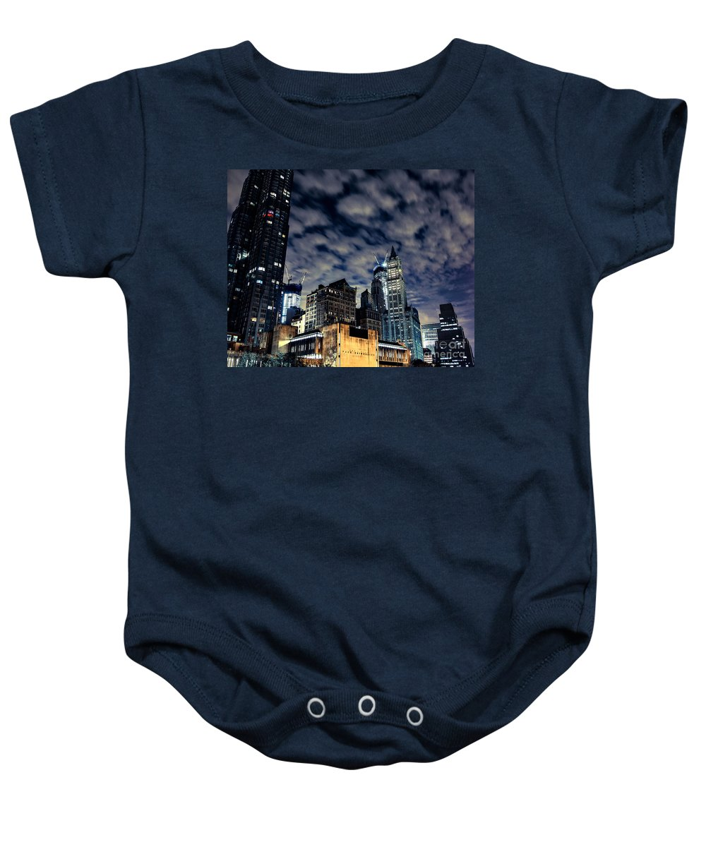 Streets Of New York Baby Onesie featuring the photograph Manhattan Bound Version A by Digital Kulprits