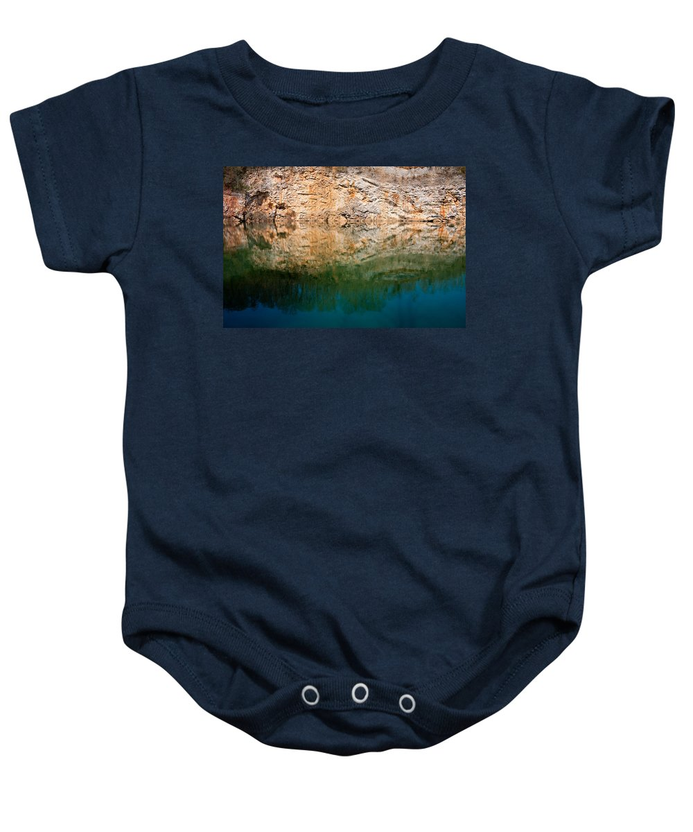 Mead's Quarry Baby Onesie featuring the photograph Marble Quarry by Melinda Fawver