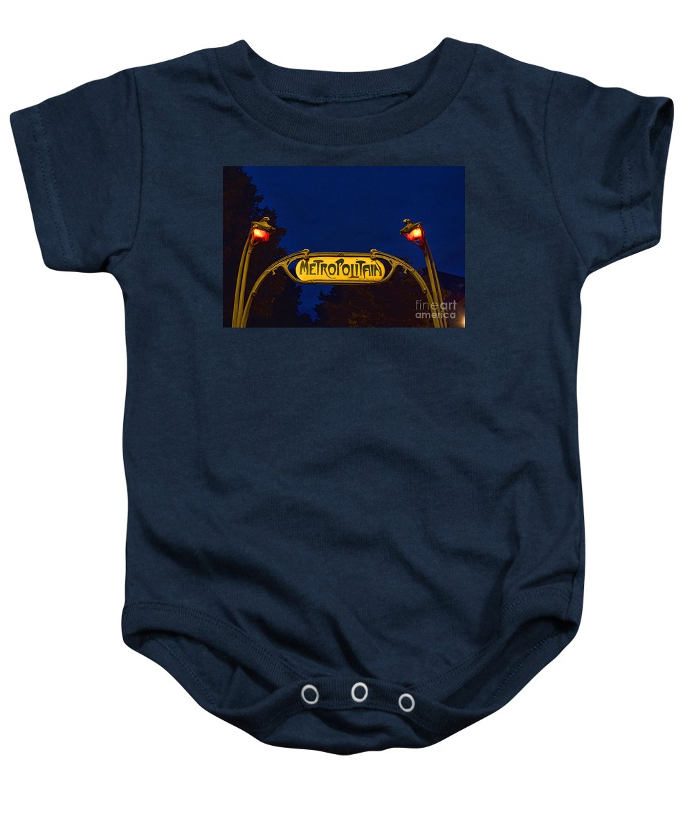 Europe Baby Onesie featuring the photograph Metropolitain #1 by Crystal Nederman