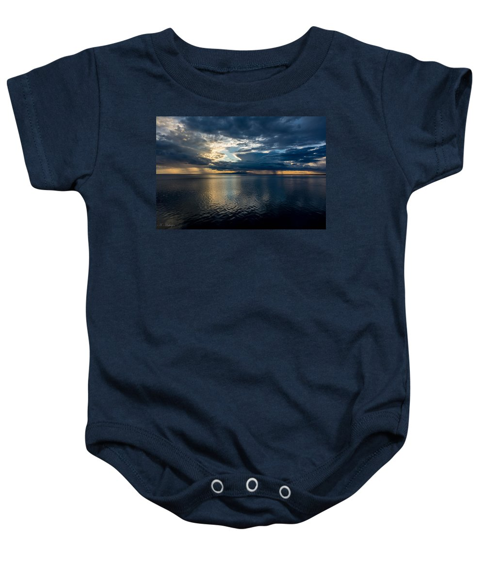 Alaska Baby Onesie featuring the photograph Midnight Majesty by Andrew Matwijec