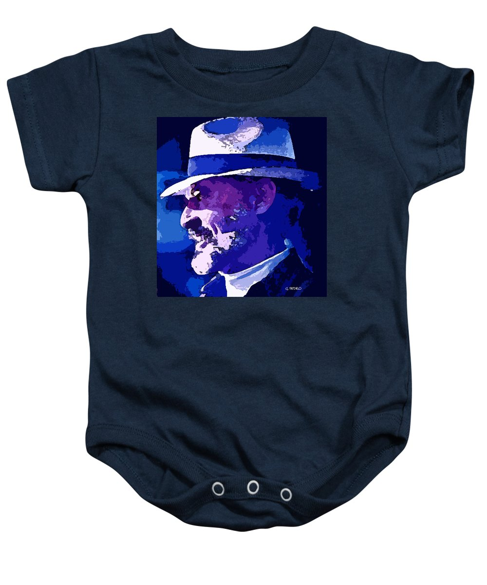 Mojo Baby Onesie featuring the painting Mojo by George Pedro