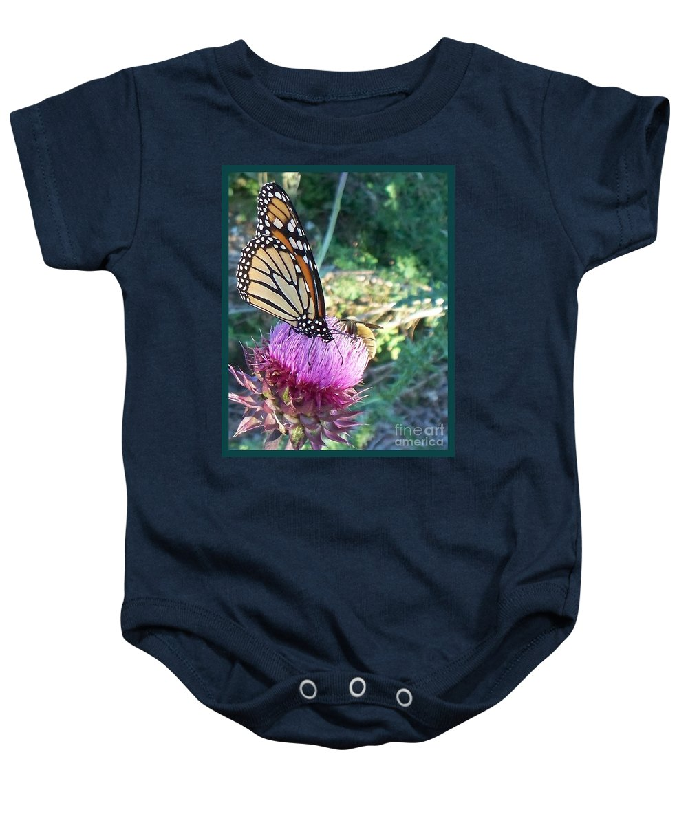 Butterfly Baby Onesie featuring the photograph Monarch Butterfly by Eric Schiabor