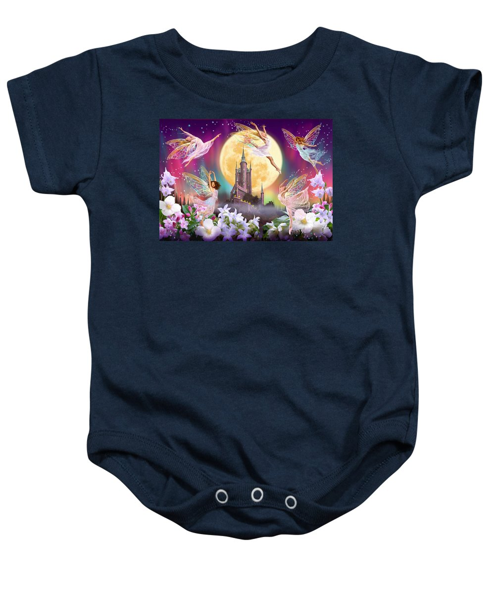 Fairy Baby Onesie featuring the photograph Moon Dance by Garry Walton