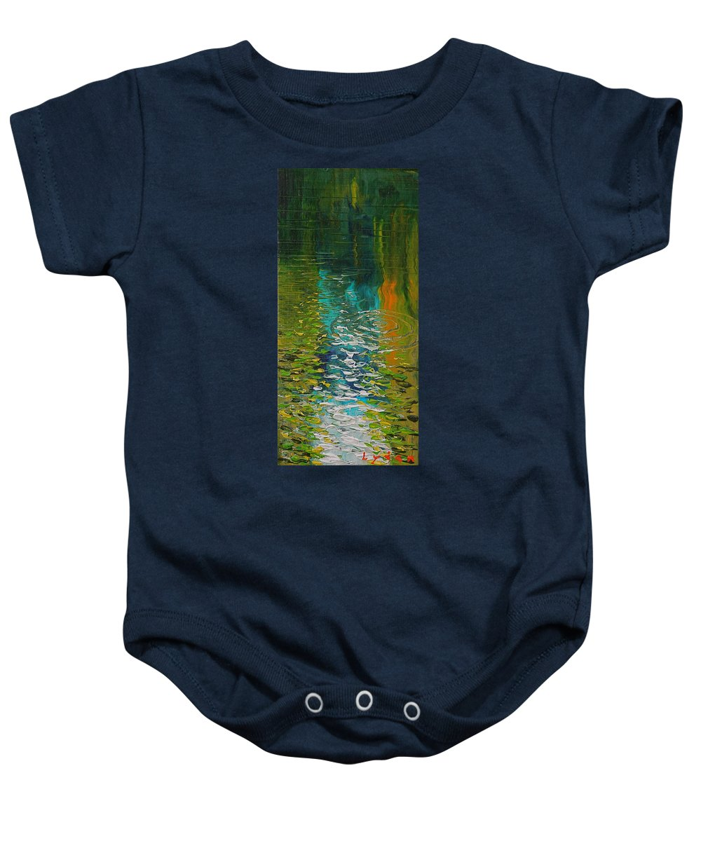 Water Baby Onesie featuring the painting Morrison Springs by Les Lyden