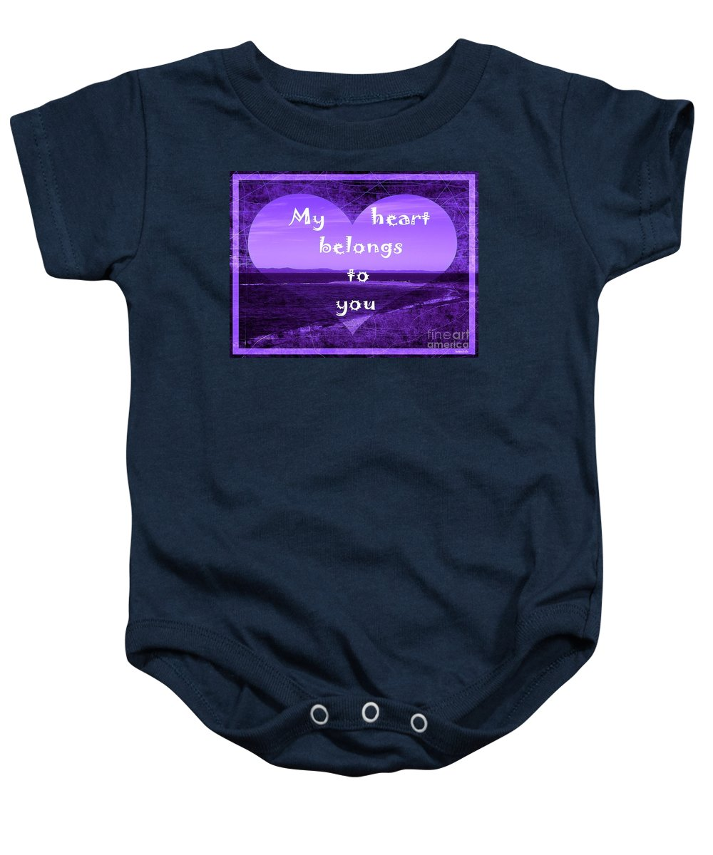 My Heart Belongs To You Baby Onesie featuring the photograph My Heart Belongs To You by Barbara Griffin