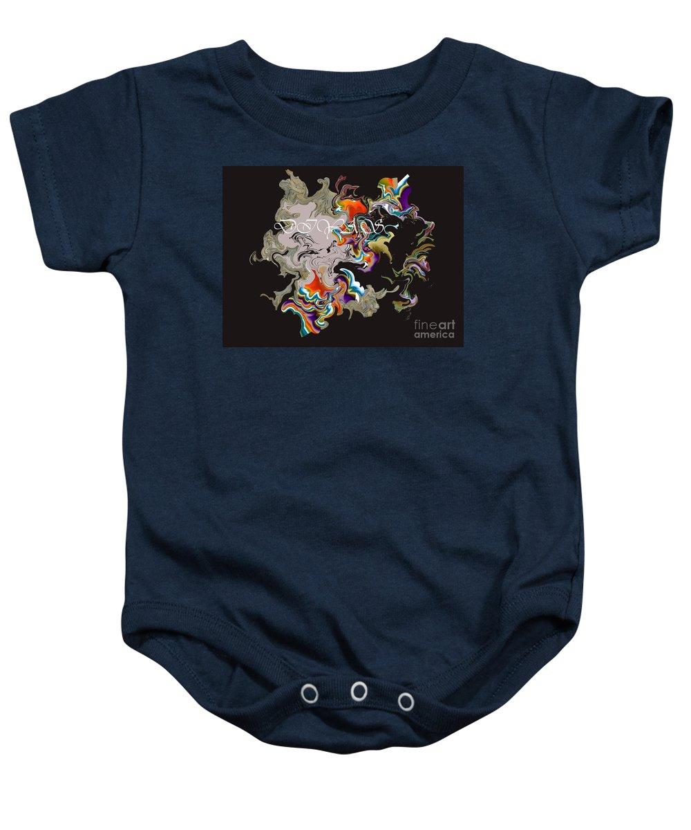 Baby Onesie featuring the digital art No. 569 by John Grieder