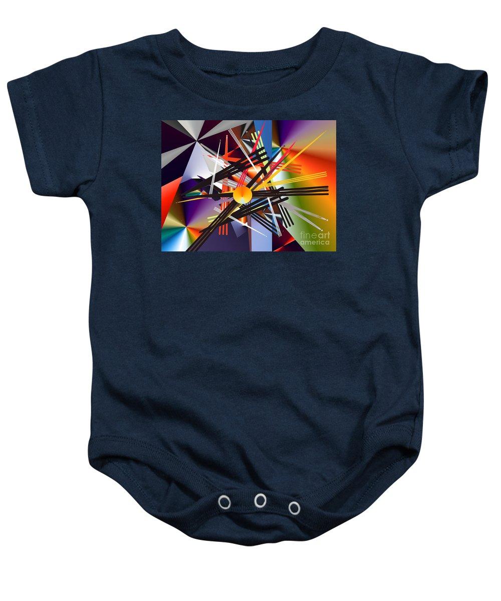 Baby Onesie featuring the digital art No. 685 by John Grieder