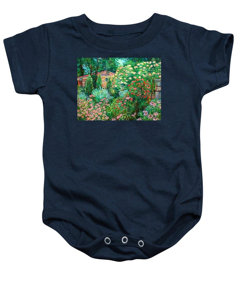 Garden Baby Onesie featuring the painting North Albemarle In Mclean Va by Kendall Kessler