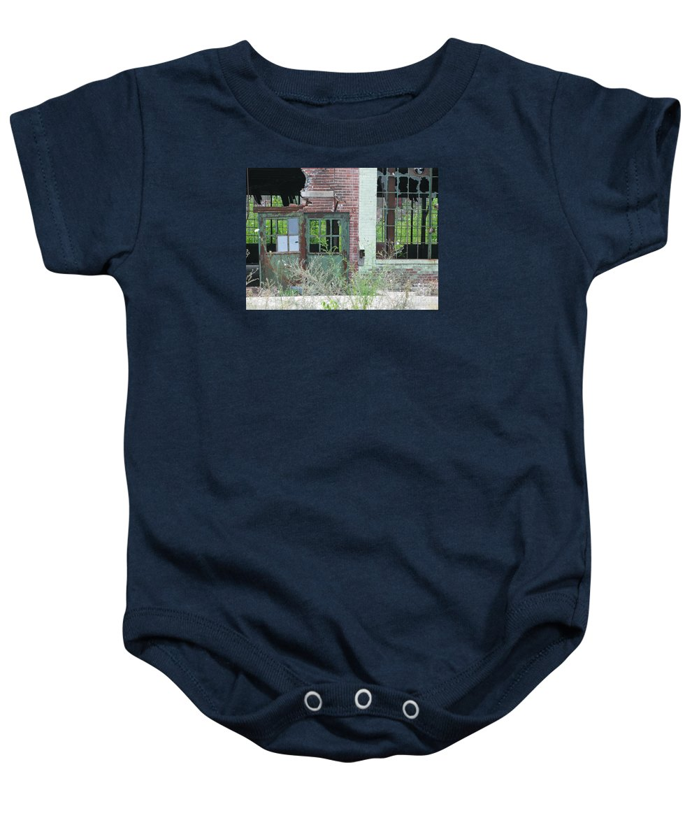 Factory Baby Onesie featuring the photograph Obsolete by Ann Horn