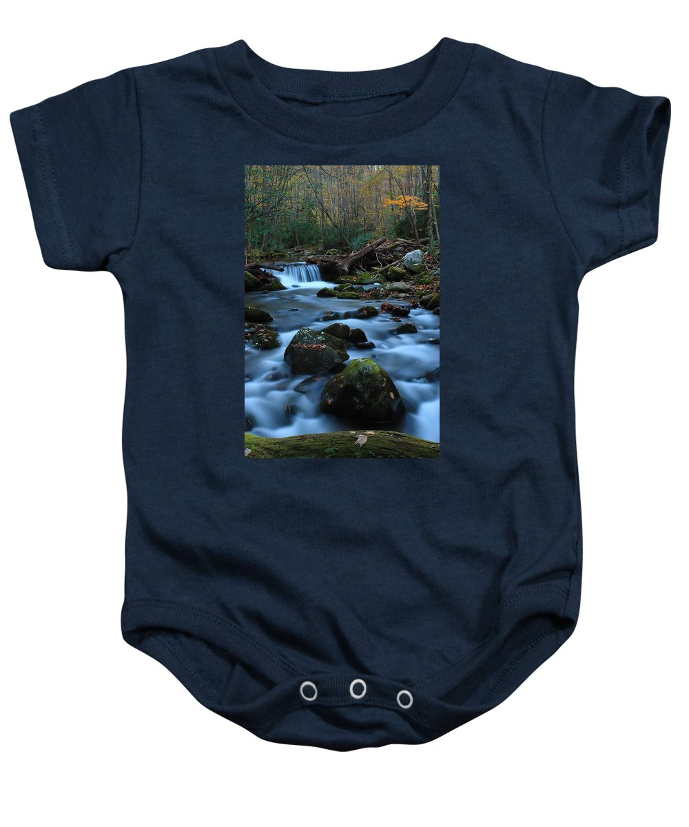 Okonaluftee Baby Onesie featuring the photograph Okonoluftee Mountain Stream by Nunweiler Photography