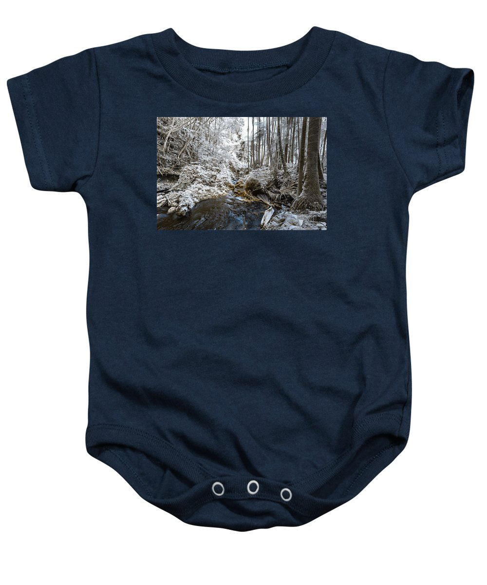 720 Nm Baby Onesie featuring the photograph Onomea Stream In Infrared by Jason Chu