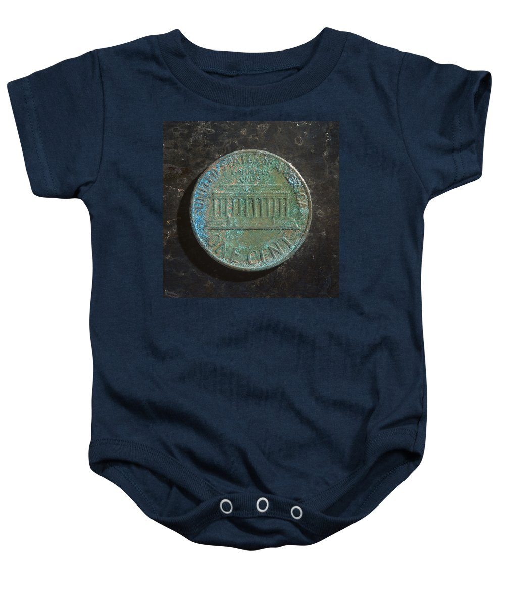 Americana Baby Onesie featuring the photograph P1970 A T by Robert Mollett
