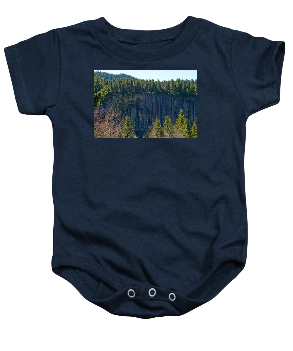 Palisades Baby Onesie featuring the photograph Palisades View Point by Tikvah's Hope