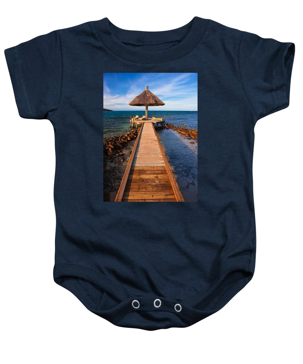 3scape Baby Onesie featuring the photograph Perfect Vacation by Adam Romanowicz