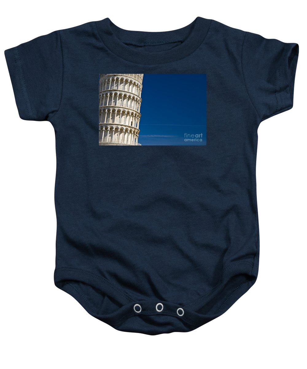 Arch Baby Onesie featuring the photograph Pisa - The Leaning Tower by Luciano Mortula