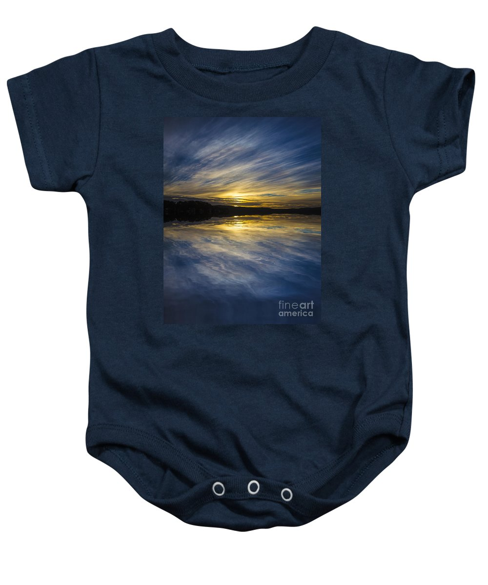 Pittwater Baby Onesie featuring the photograph Pittwater Sunset Abstract by Sheila Smart Fine Art Photography