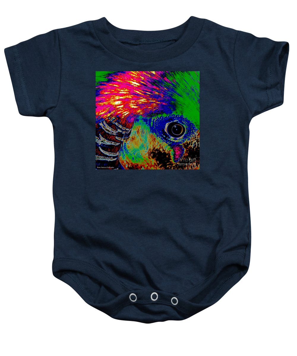 Pheasant Baby Onesie featuring the photograph Pleasant Pheasant by Rose Santuci-Sofranko
