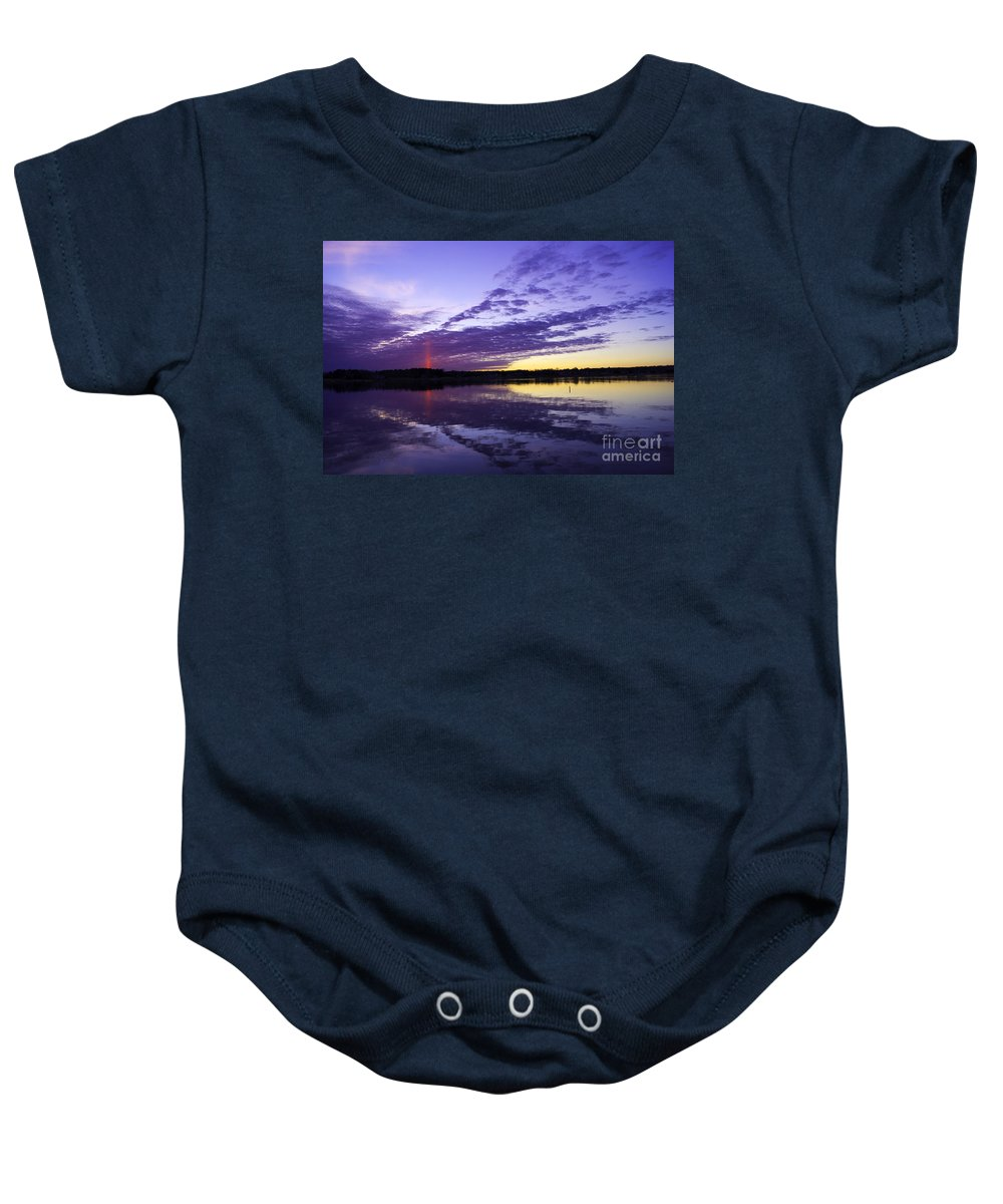 Landscape Baby Onesie featuring the photograph Pointed Light by Joe Geraci