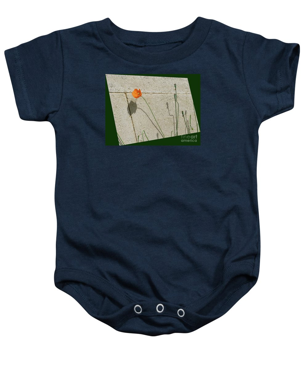 Poppy Baby Onesie featuring the photograph Poppy by Ann Horn