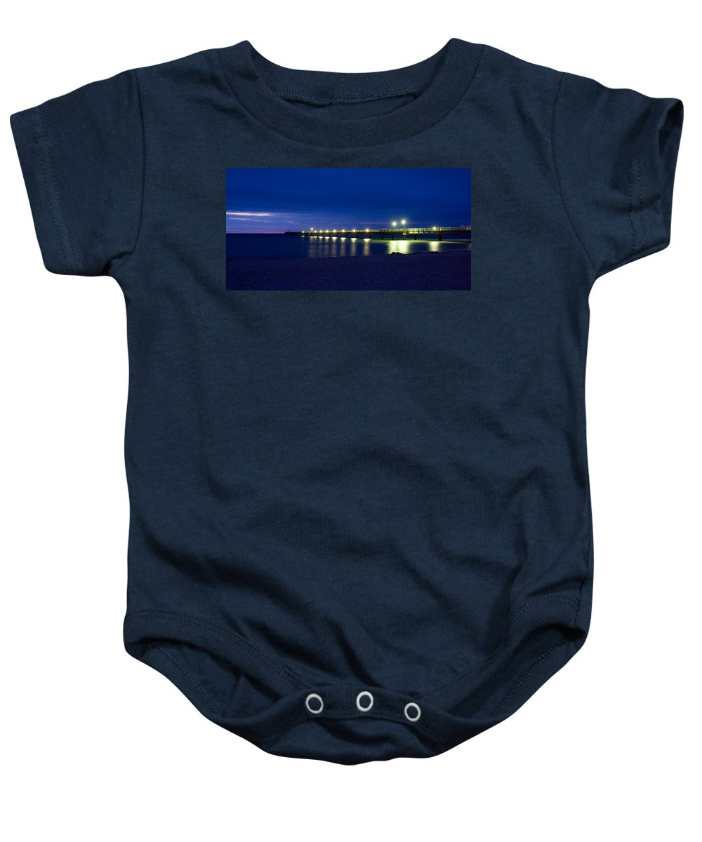 Ostsee Baby Onesie featuring the pyrography Prerow Baltic Sea by Steffen Gierok