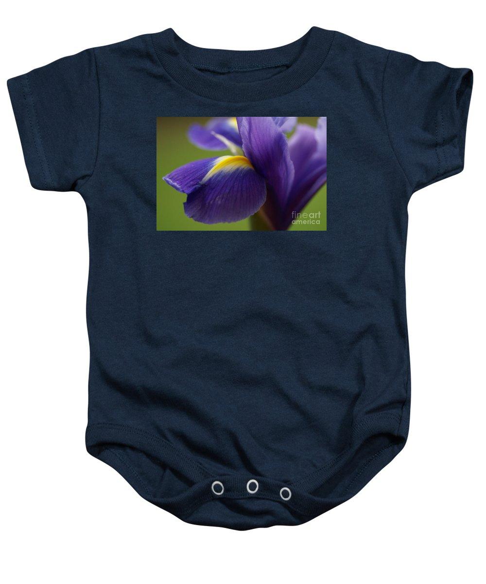 Purple Baby Onesie featuring the photograph Purple Iris 8 by Carol Lynch