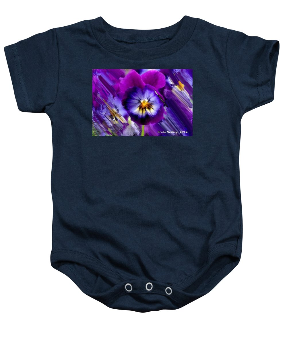 Purple Baby Onesie featuring the painting Purple Petunia by Bruce Nutting