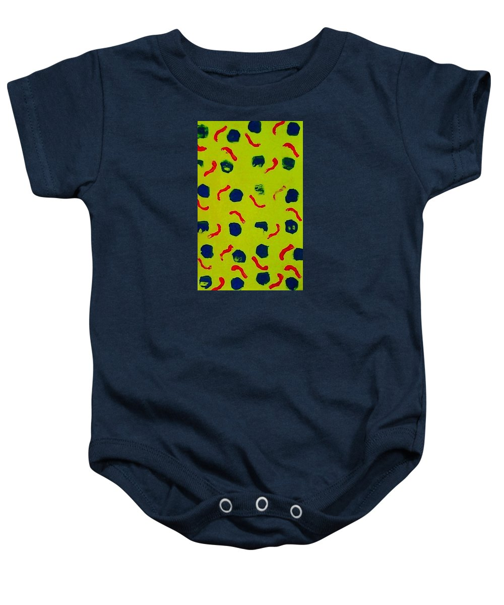 Abstract Baby Onesie featuring the painting Rain On A Sunny Day Notecard by Suzanne Berthier
