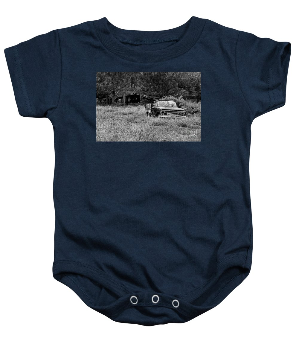 Landscape Baby Onesie featuring the photograph Retired by Scott Pellegrin
