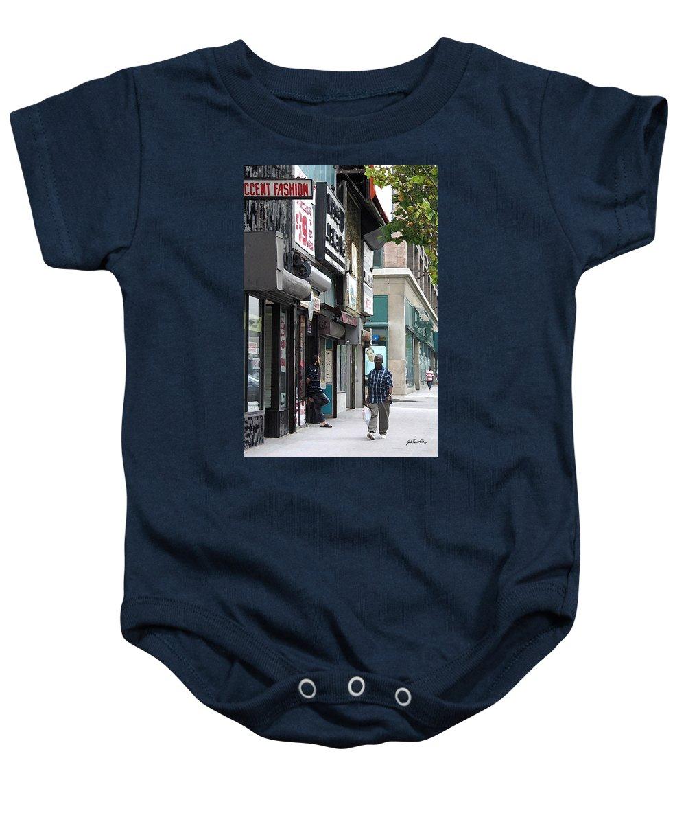 Digital Painting Baby Onesie featuring the digital art Rochester Main Street 2009 by John Vincent Palozzi