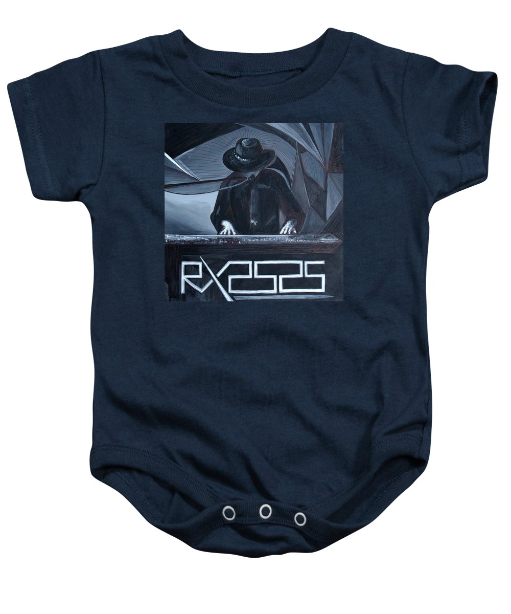 Robert X Baby Onesie featuring the painting Rx2525 by Kate Fortin