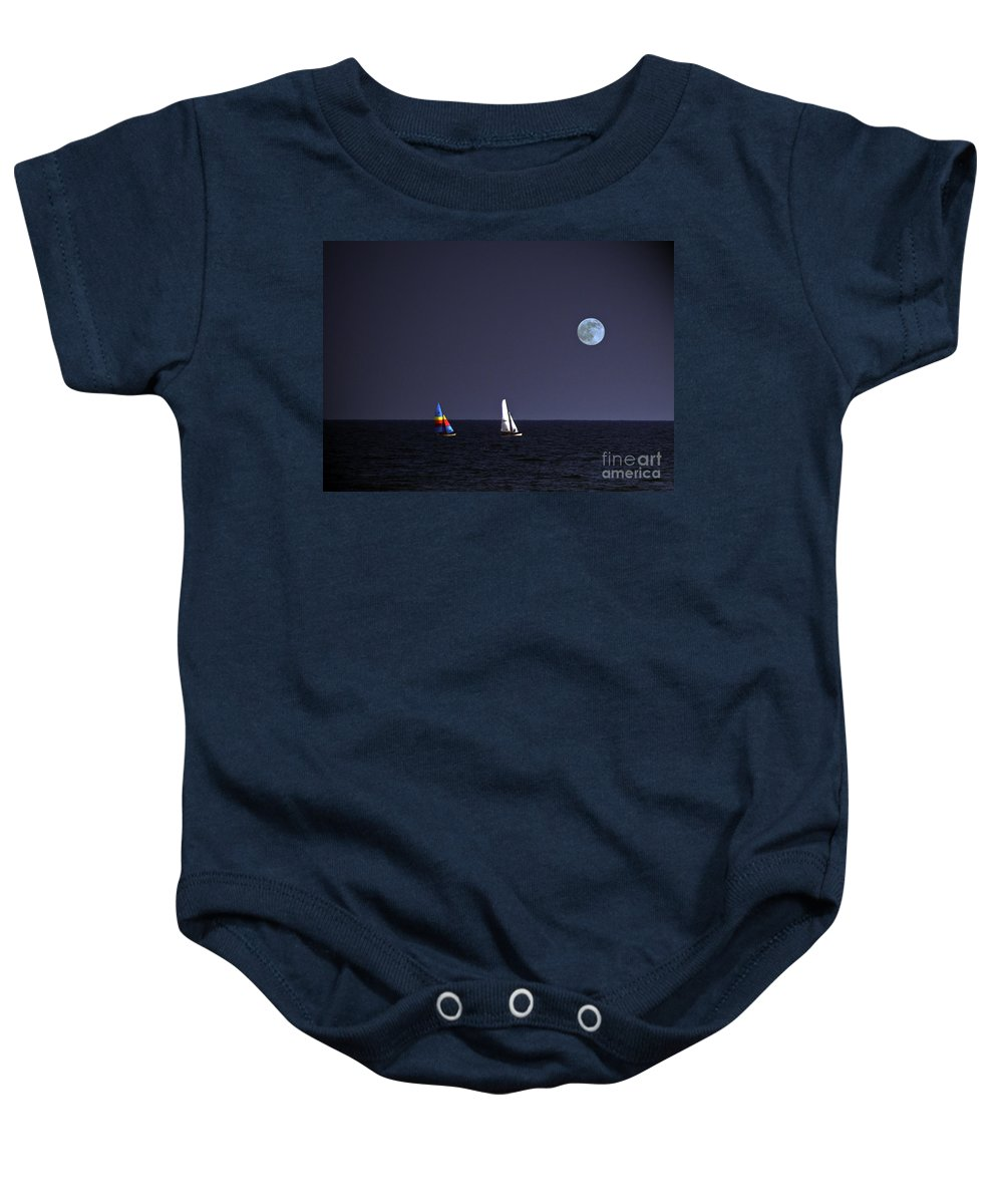 Sails Baby Onesie featuring the photograph Sailing On Summer Breeze by Lydia Holly