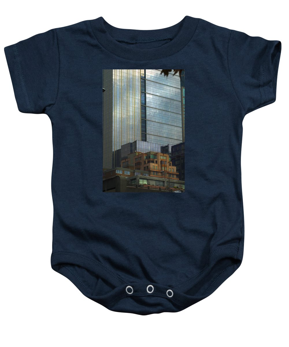Cityscape Baby Onesie featuring the photograph Seattle Windows by Yulia Kazansky