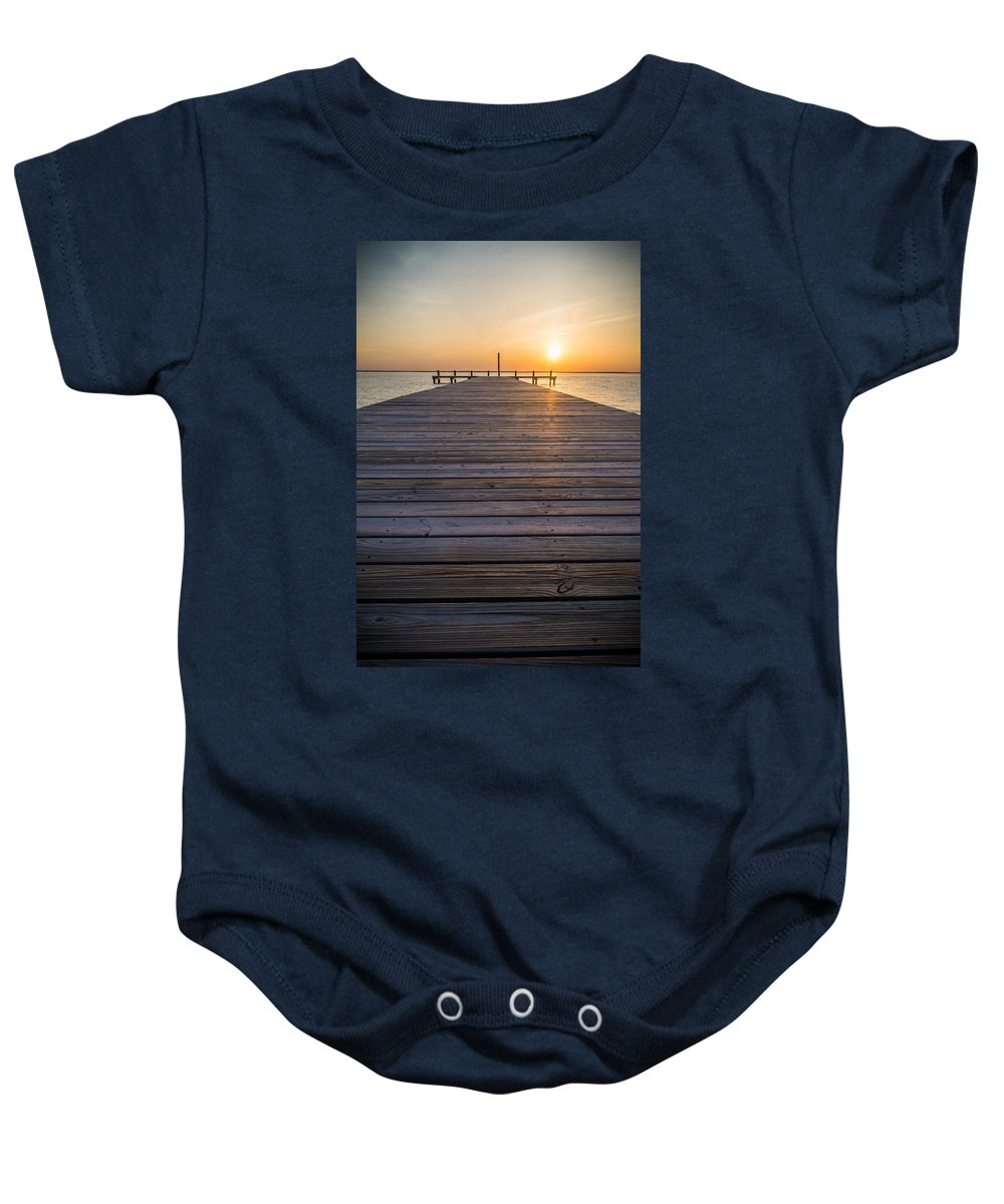 New Jersey Baby Onesie featuring the photograph Simple Setting by Kristopher Schoenleber